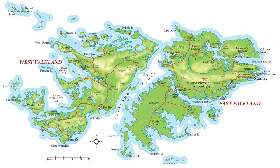 Port Stanley Falkland Islands Cruise Port Of Call - Falkland islands map