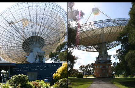 Different views of the Dish at Parkes Observatory