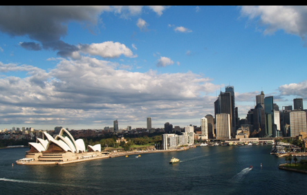 The Sydney Opera House and the Sydney Harbor